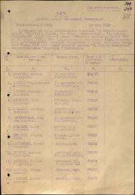 Акт вручения медали за оборону Ленинграда от 15.07.1943 (стр. 01)