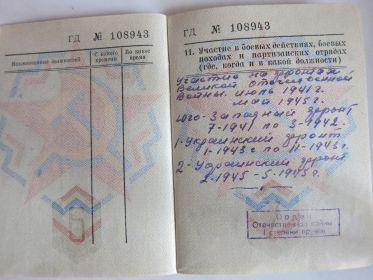 Военный билет офицера запаса Вооруженных сил СССР