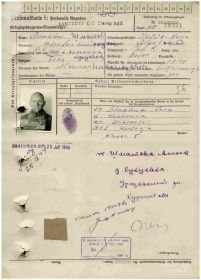 Рассекречено в соответствии с приказом Министра обороны РФ от 8 мая 2007 года N181 «О рассекречивании архивных документов Красной Армии и Военно-Морского Флота за период Великой Отечественной войны 19