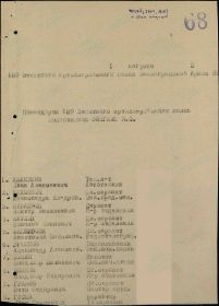 Акт награждения за оборону Ленинграда от 01.08.1943 (стр. 01)