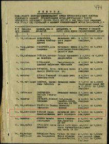 Список награжденных медалью За Победу над Германией от 11.09.1945 (стр. 01)