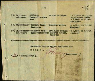 Список награжденных медалью За Победу над Германией от 11.09.1945 (стр. 02)