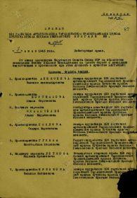Приказ подразделения №: 9/н от: 03.06.1945, издан: 108 габр БМ
