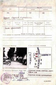 Учётная карточка воинского захоронения: