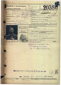 Личная немецкая военная карточка прадеда!