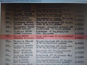 """Акт о награждении """"За взятие Будапешта"""" 2."""
