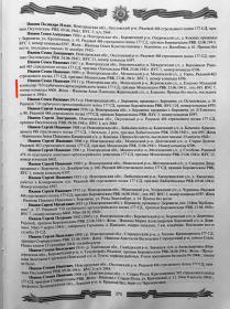 Книга «177 Стрелковая дивизия из Боровичей. Лужский рубеж» М.А.Семёнова. Список бойцов 177 СД.