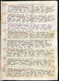 Список без названия с информацией о смерти от ран Морозова ДК