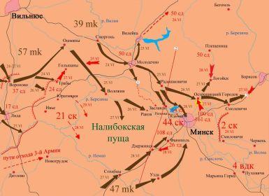 Прорыв немецкой 3-й танковой группы к Минску 24-29 июня 1941.