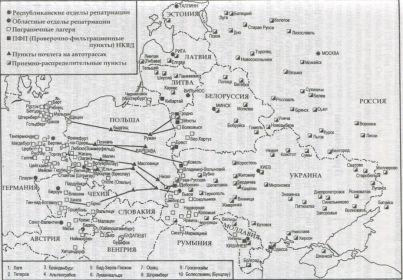 Фильтрационные пункты - Карта.