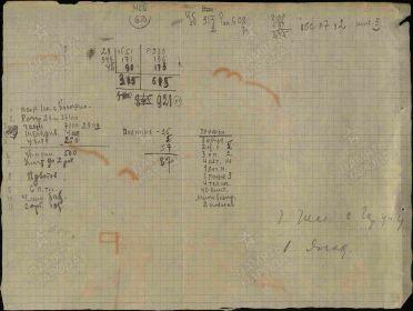 период  13.01.1943 г. 29СП 38СД обратная сторона подсчет потерь