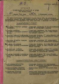 "Орден ""Отечественая война 1 степени"". Приказ (1 лист)"