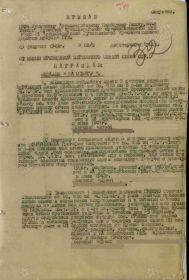 ПРИКАЗ ПО 1304 ПАП 64  ТПАБР 21  АДП РГК ОТ 25.2.1945 № 03/Н  (1-я страница)