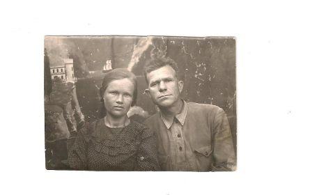 С женой Екатериной 1940 год