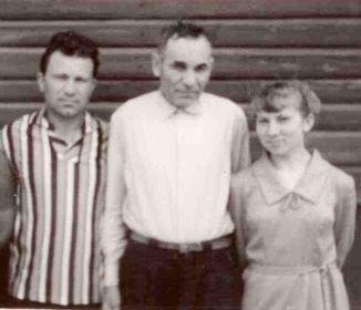 1967год. Александр Васильевич с сыном Сашей и дочерью Таей