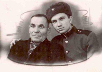 1969год. Александр Васильевич с сыном Николаем