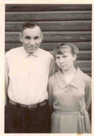 1967год. Александр Васильевич с дочкой Таечкой