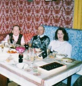 Новый год. С мужем Дмитрием и внучкой Натальей