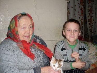 С правнуком Кириллом