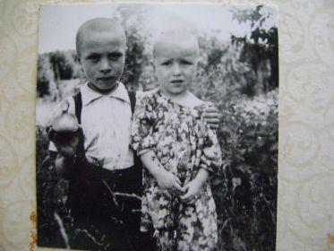 Дети: Лёня и Нина (1951-1998г.г.).