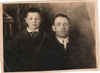 Грачев Николай Петрович с сыном Грачевым Александром Николаевичем 12.07.1948 г.р.