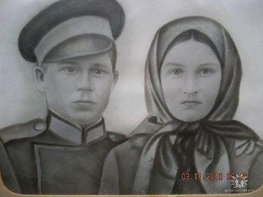 Родители Иван Васильевич и Екатерина Антоновна