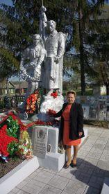 внучка солдата Гудкова Ольга Николаевна Ржев братская могила 2015 г. 9 мая.