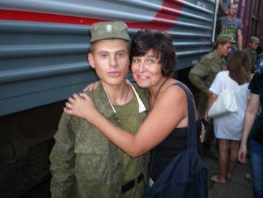 Внучка Елена и правнук Владислав