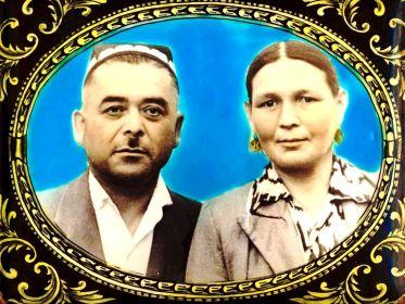 Журахон Рахмонов с женой Ойимхон