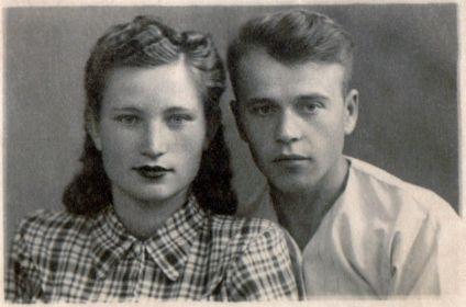 С женой, Клавдией Васильевной в 1948г.