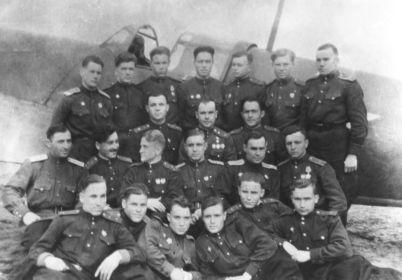 Командный состав и летчики 805 АИП