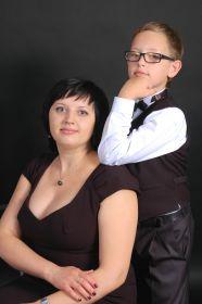правнучка Ланина Светлана и праправнук Ланин Алексей