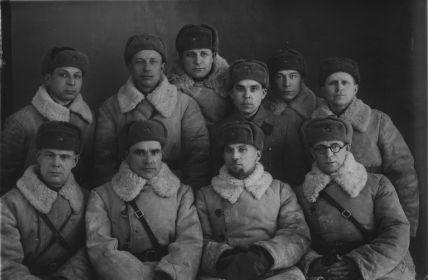 Малыгин В.А. - первый Комбриг.Создатели 10 Саперной Бригады, Куйбышевский р-н. ст. Безымянка 1942г.