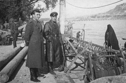 Малыгин В.А. 1945 г. Венгрия. Восстановление мостов через Дунай