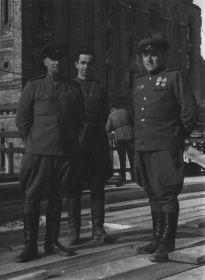 Малыгин В.А. с сослуживцами . Венгрия. 1945 г.