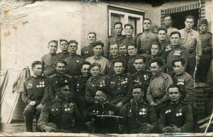 Однополчане (53-я отдельная гвардейская разведрота) весна 1945 г.