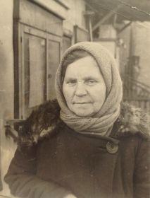Мать Антонины Павловны. Деева Фёкла Леонтьевна. Фото сделано примерно в 1955 году.