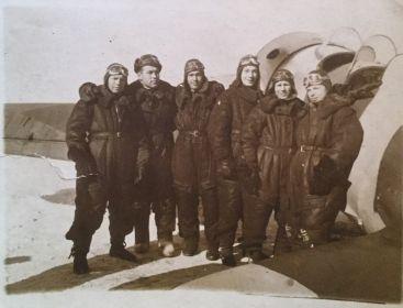 Однополчане в Вознесенской военной школе пилотов