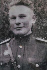 Аркадий Андреевич Сычев, 1923-2020,  командир минометного взвода, в котором состоял  Спицин в момент гибели
