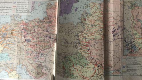 Карта, где написан собственной рукой путь