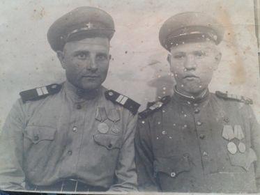 Германия, г. Гера - 21.09.1945г. (слева К. Кучеренко )