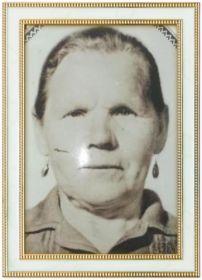 Жена Анна Васильевна