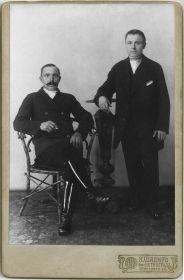 Илья Михайлович с братом Михаилом Михайловичем, (1914-1916 годы).