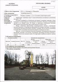 Фото братской могилы в г.Сандомир, Польша