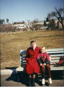 Супруга брата - Мария с дочерью Олей .