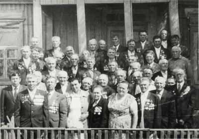 Лобойковские ветераны. 1985год.