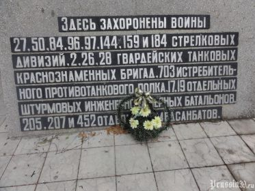 Мемориальный комплекс на братской могиле п. Бабушкино