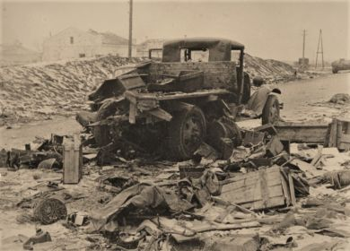 Разбитая машина в районе Матвеева Кургана