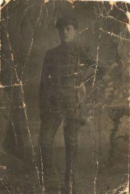 Малыгин В.А. 1919 г. Начало военной службы