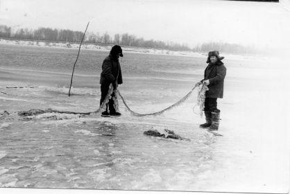 На рыбалке с сыном Виктором